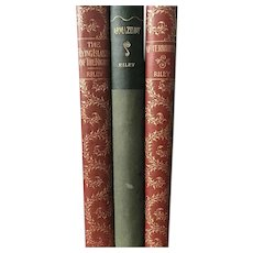 Set of 3 Antique 1890s Books James Whitcomb Riley Poetical Works Fine Binding Poetry