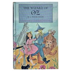 Vintage WIZARD OF OZ by L. Frank Baum Illustrated Anna Marie Magagna Junior Classic Home Library
