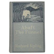 Antique 1909 ABAFT THE FUNNEL by Rudyard Kipling Old Book Jungle