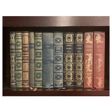 Lot of 11 Vintage Books International Collector's Library Decorative Binding Instant Library Classic Titles