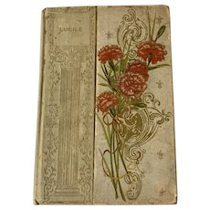 Antique 1800s LUCILLE by Owen Meredith Edwardian Fine Binding Art Nouveau Rare Old Book
