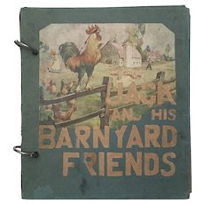 Vintage Book Jack BARNYARD ANIMALS Handmade Children's Book