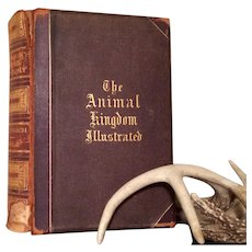 Antique 1874 Book THE ANIMAL KINGDOM Illustrated Goodrich Johnson