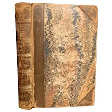 Antique 1854 Poetical Works Matthew Prior Fine Binding Leather Marbled Pages