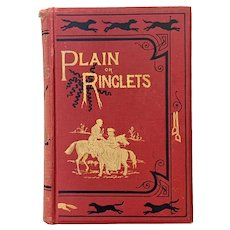 "Antique 1880 ""Plain or Ringlets?"" by Robert Surtees Illustrated John Leech Hand-Colored Plates"