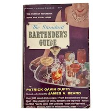 Vintage 1959 Book THE BARTENDER'S GUIDE by Patrick Duffy Paperback Cocktail Recipes