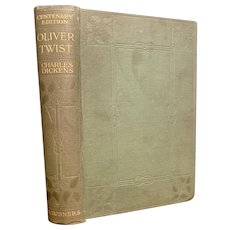 Antique 1910 Book OLIVER TWIST by Charles Dickens Classic Illustrated