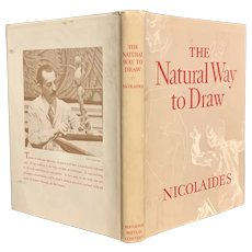 "Vintage 1941 ""The Natural Way to Draw"" by Kimon Nicolaides Art Realism Instruction Book"