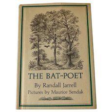 RESERVED Vintage 1967 THE BAT-POET by Randall Jarrell Illustrated Maurice Sendak Children's Book First Edition