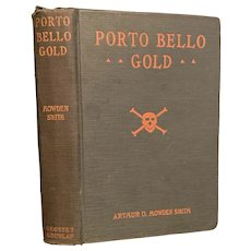 Vintage 1925 PORTO BELLO GOLD by Arthur Howden Smith Rare Halloween Decor Skull