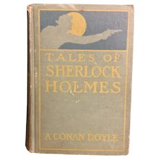 Antique 1906 SHERLOCK HOLMES by A. Conan Doyle Mystery Illustrated