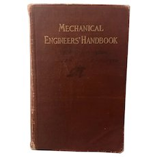 Antique 1919 Mechanical Engineers' Handbook 7th Printing Illustrated