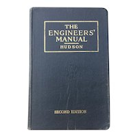 Vintage 1949 Engineers' Manual by Ralph Hudson Illustrated