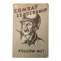 WWII 1945 Military Infantry Booklet COMBAT LEADERSHIP for Soldiers Illustrated Pamphlet