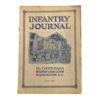 1920 INFANTRY JOURNAL Military Magazine War Old Book Illustrated Advertising Oil
