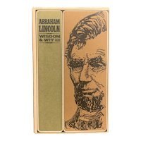 """1965 Book """"Abraham Lincoln: Wisdom & Wit"""" Peter Pauper Press Illustrated Jeff Hill"""