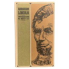 "1965 Book ""Abraham Lincoln: Wisdom & Wit"" Peter Pauper Press Illustrated Jeff Hill"
