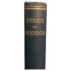 Antique 1906 Essays of Joseph Addison Rare Religious
