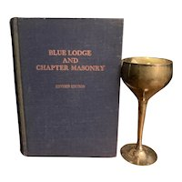 1944 FREEMASONRY Book Blue Lodge Secrets Rituals Cult Ceremonies