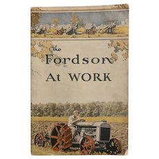 RARE 1921 FORDSON AT WORK Guide Book Tractors History Second Edition Auto Memorabilia