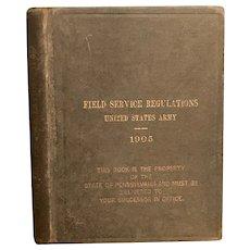 RARE 1905 Field Service Regulations Book US Army Pre WWI