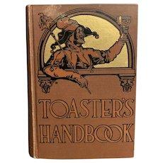 1938 TOASTER'S HANDBOOK by Peggy Edmund Harold Williams Jester