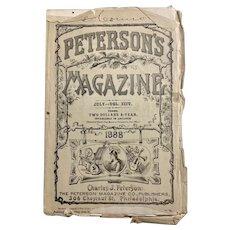 Peterson's Magazine 1888 Women's Fashion Pull-Out COLOR PLATES Vol. XCIV Advertisements