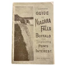 1895 Illustrated Guide to Niagara Falls Rand McNally Pull-Out MAP Souvenir Booklet