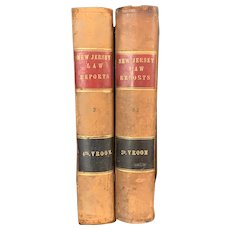 1869 New Jersey Law Reports Supreme Court Leather Bound Old Law Books