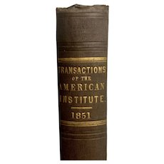 Old Book Transactions of the City of New York 1851 Industry Farming Patents