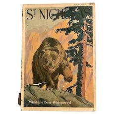 Old 1925 Children's Magazine ST. NICHOLAS October Ads Advertisements Illustrated