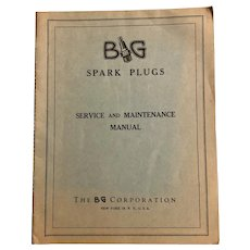 Vintage 1944 BG SPARK PLUGS Service and Maintenance Manual Engineering Automotive Cars