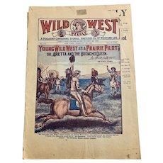 Wild West Weekly Magazine February 1920 Cowboys Lifestyle Advertisements