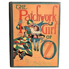 "1913 ""The Patchwork Girl of Oz"" by L. Frank Baum Illustrated John Neill Wizard of Oz Series"