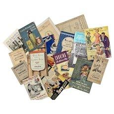 Lot Old Advertising Recipe Booklets Vintage & Antique Kitchen Decor