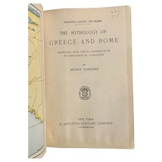 1907 Mythology of Greece and Rome by Arthur Fairbanks Illustrated Pull-Out Maps