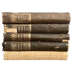 RARE Antique 1865 Set of 5 BARNES' NOTES Religious Study Books