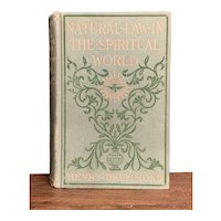 Natural Law in the Spiritual World by Henry Drummond 1900s Esoteric Death Genesis Creation Bible