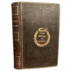 1844 French Book Spain from the Reign of Philippe II to the Advent of Bourbons Leather Bound
