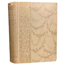 Antique 1886 Book Poetical Works of Robert Browning Floral Art Nouveau Fine Binding