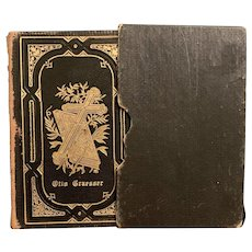 Antique 1908 German Religious Book GESANGBUCH Heirloom Leather Bound Fine Binding