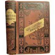Antique 1800s Book THE SCOTTISH CHIEFS by Jane Porter Illustrated Victorian Fine Binding