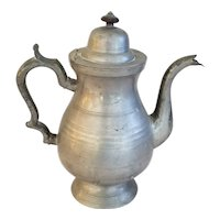F.Porter Pewter Coffee Pot