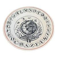 Scholarly Dog Alphabet Dish