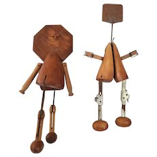 Folk Art Shoe Stretcher Couple