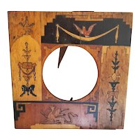Italian Wood Inlay Picture Frame