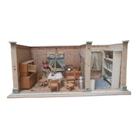 Antique German Dollhouse Room - Kitchen
