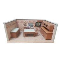 Vintage German Room Box - Dining room