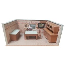 Vintage German Room Box - Dining room