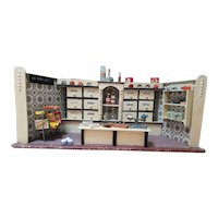 Vintage 1930s/1940s Miniature German Grocery Store Dollhouse